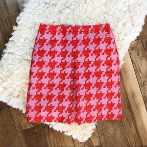 NWT J. Crew Pixelated Houndstooth A Line Skirt